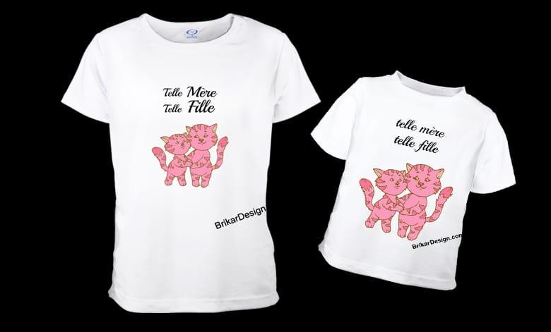 T-shirt mère fille