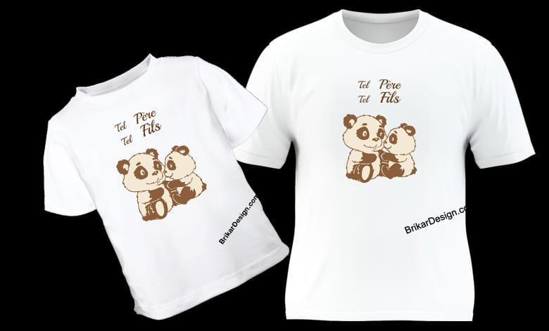 T-shirt père fils
