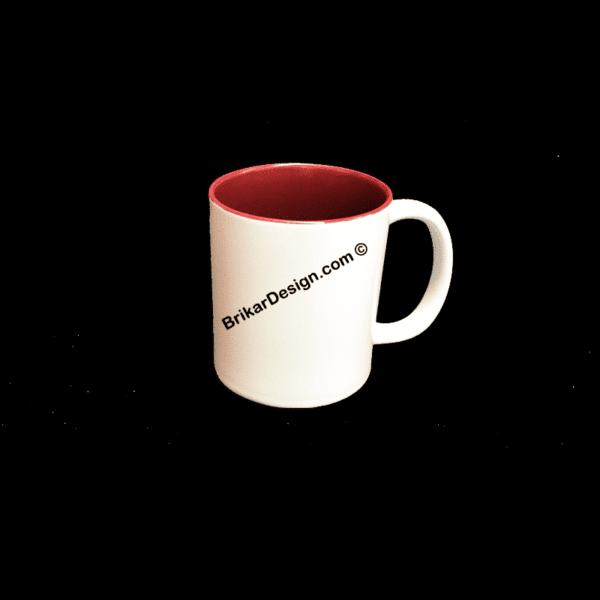 tasse couleur bourgogne personnalisé