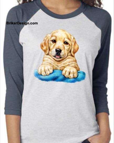 Chandail manche raglan puppy
