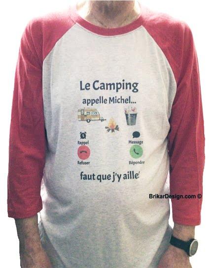 Chandail unisexe le camping m'appelle personnalisé