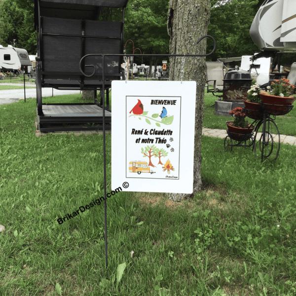 enseigne personnalisé de camping